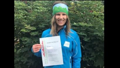 Bianca Besele ist frischgebackene Bergwanderführerin