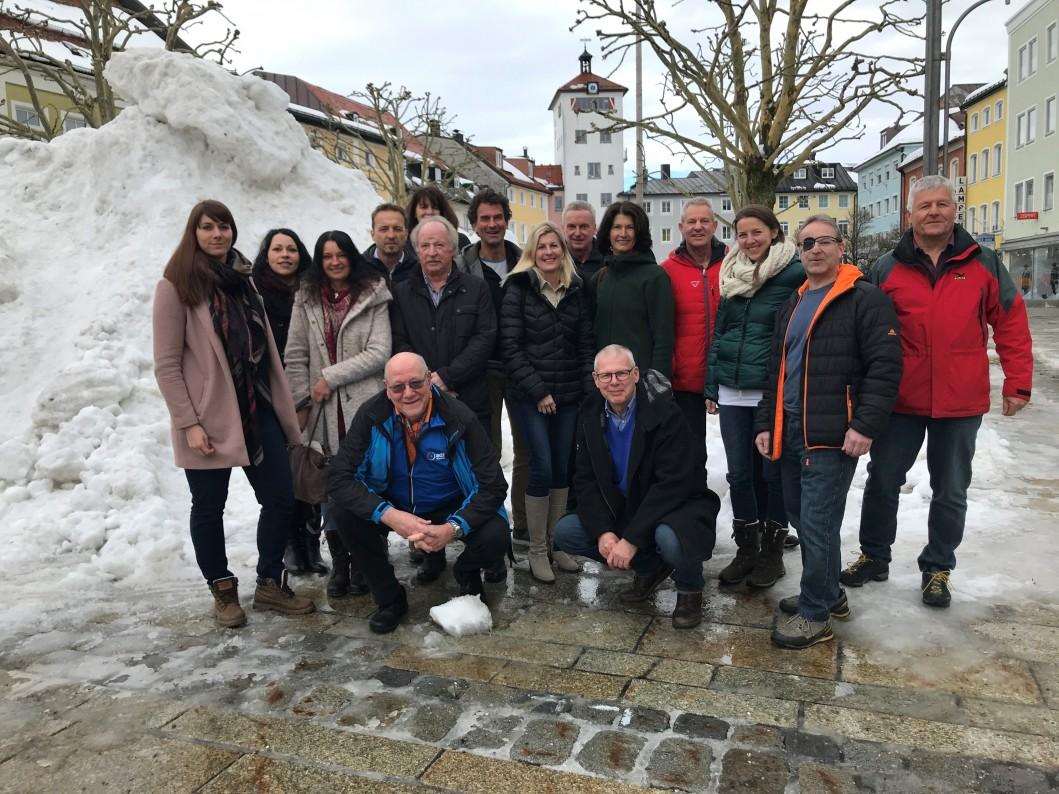 Chiemgau Rad-Guides mit Vertretern des ADFC