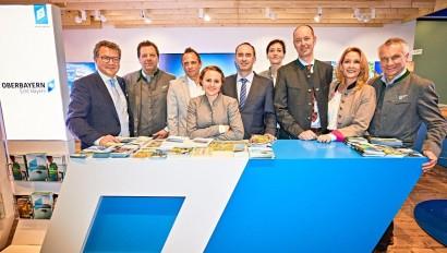 Besuch der Staatsministers für Wirtschaft, Landesentwicklung und Energie sowie Umwelt und Verbraucherschutz am Oberbayernstand der