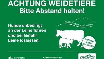 Chiemsee Alpenland Tourismus initiiert einheitliche Almwiesenbeschilderung