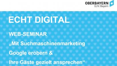 """Kostenfreies Web-Seminar: """"Mit Suchmaschinenmarketing Google erobern & Ihre Gäste gezielt ansprechen"""" am 24. September"""