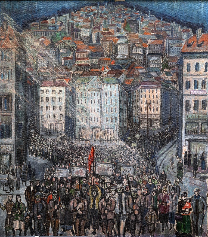 Lily Koebner-Linke, Revolution, 1918 (Wolfgang Pulfer)
