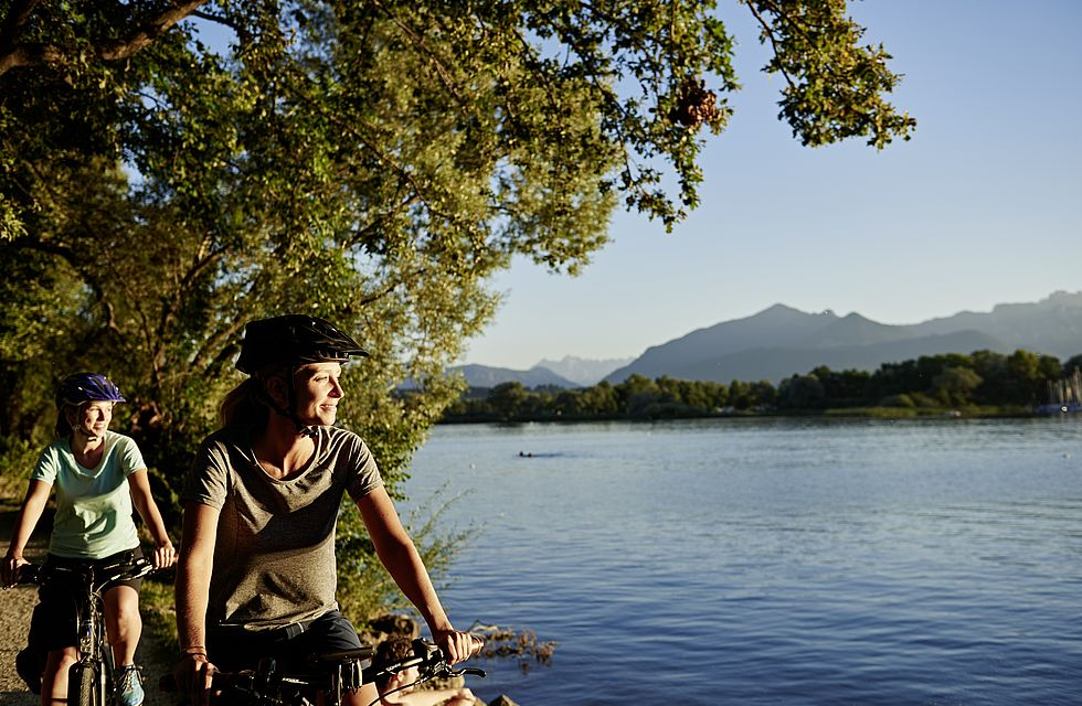 Radeln am Wasser Chiemsee