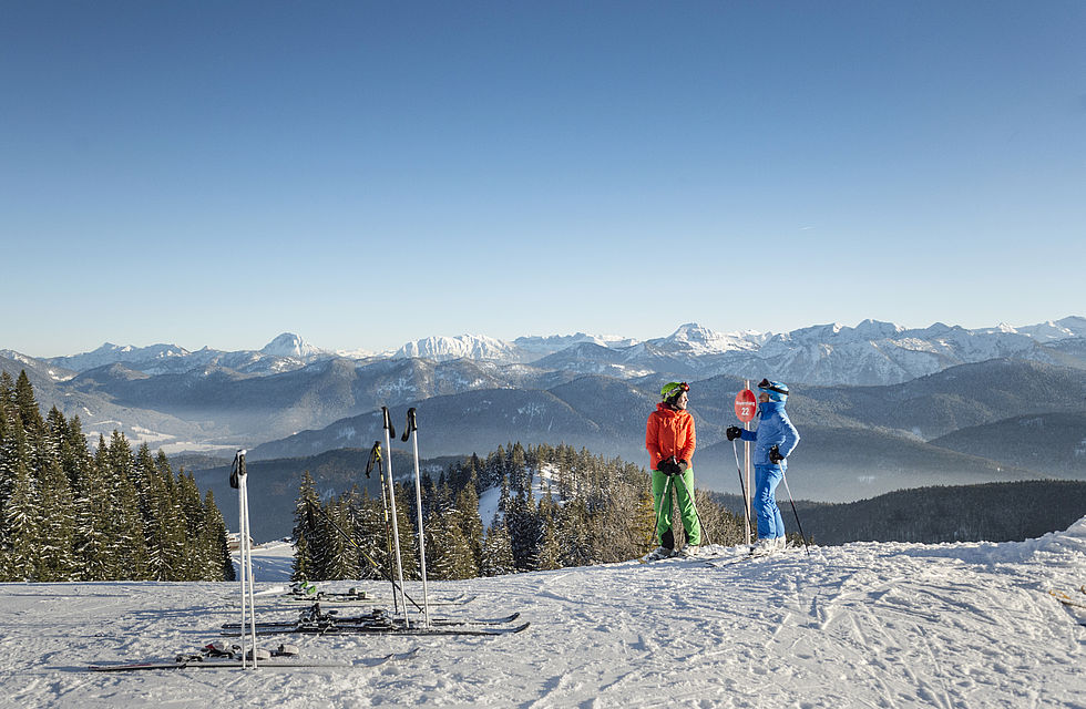 Skifahren in Oberbayern